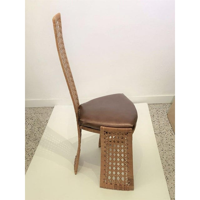 Tan Mid-Century Modern Danny Ho Fong Dining Chairs Rattan Caning - Set of 6 For Sale - Image 8 of 13