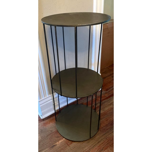 Kalalou Tall Metal Round Side Table For Sale - Image 4 of 13