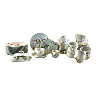Vintage Jacques Coeur Dinnerware-Set of 49 - 8 Placemats & Napkins For Sale