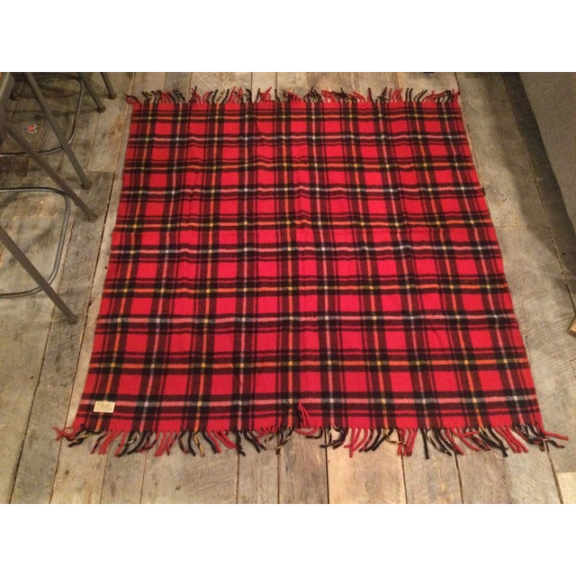 Red Plaid Faribo Wool Blanket - Image 2 of 6