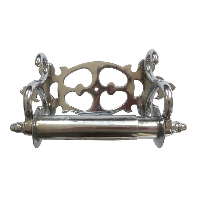 Nickel-Clad Late Victorian Tissue Paper Holder For Sale