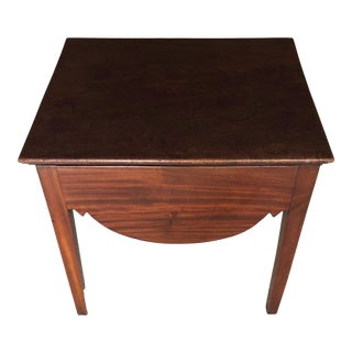 18th Century English Mahogany Handmade Side Table For Sale