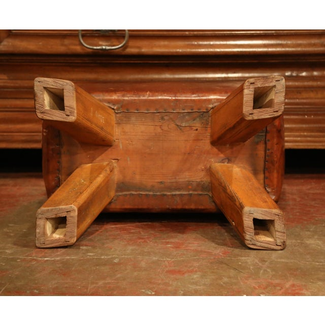Early 20th Century Czech Pommel Horse Bench With Patinated Brown Leather For Sale - Image 9 of 10