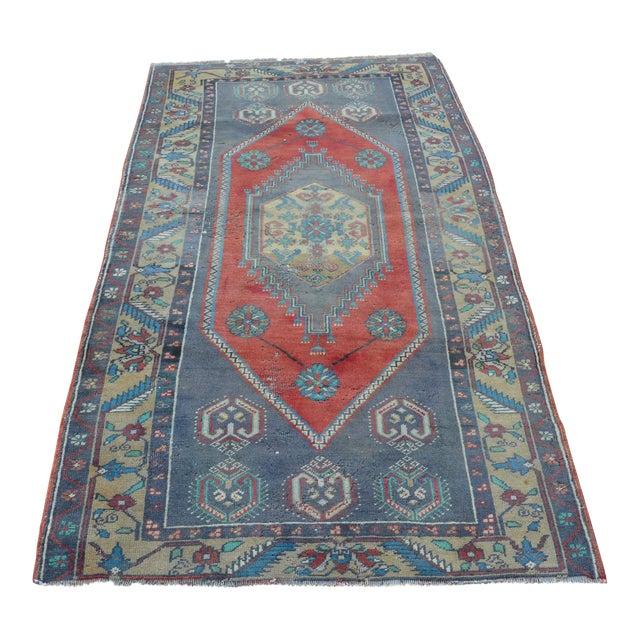 Anatolian Wool Turkish Rug - 3′4″ × 6′9″ For Sale