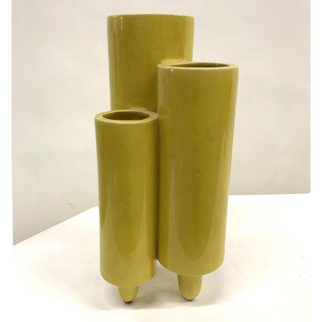 Mid-Century Italian and Japanese Ceramic Vase For Sale - Image 5 of 7