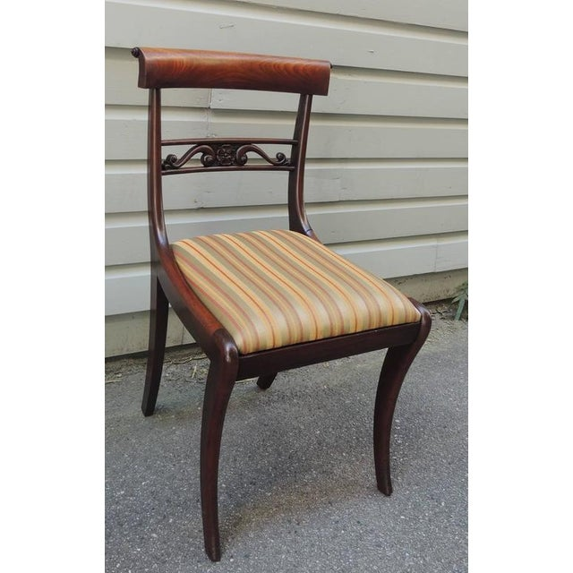 Set of Six Early 19th C English Regency Mahogany Dining Chairs For Sale In Charleston - Image 6 of 7