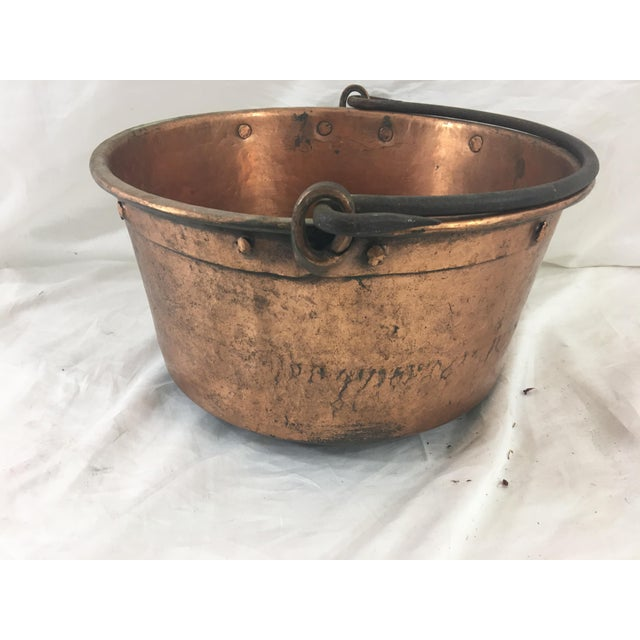 This copper pot has an interesting construction, dating it to the 1880's. In good condition, with tarnish consistent with...