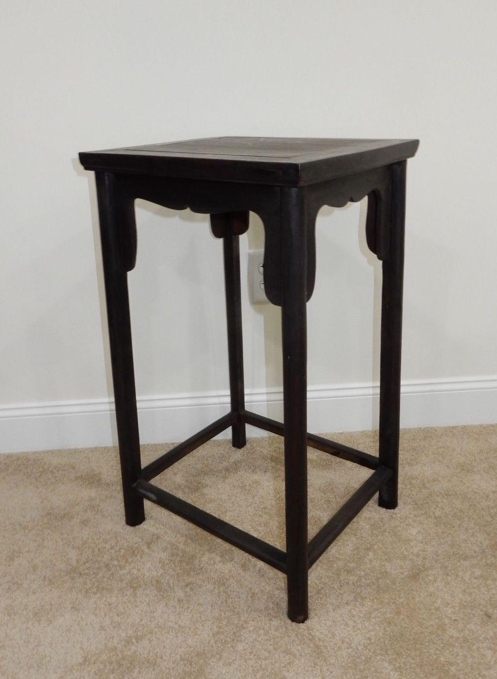 Antique Chinese Zitan Wood Side Table   Image 7 Of 11