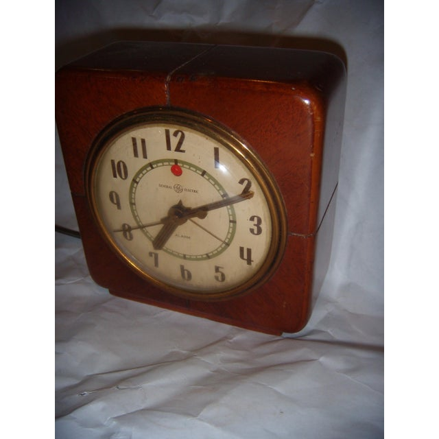 Art Deco Style General Electric Wood Alarm Clock - Image 3 of 9