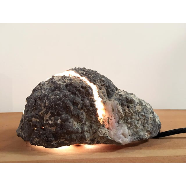 "Contemporary ""Lava Rock"" Lamp For Sale - Image 3 of 4"