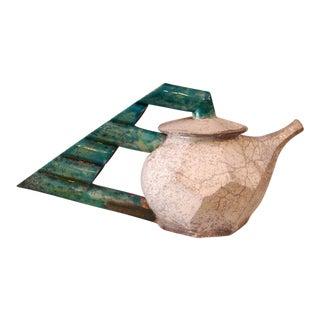 John Ransmeier Contemporary Art Pottery Coffee Pot For Sale