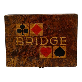 1941 German Bridge Players Box For Sale
