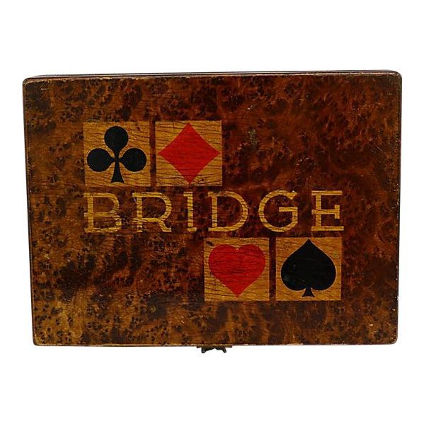 1941 German Bridge Players Box For Sale