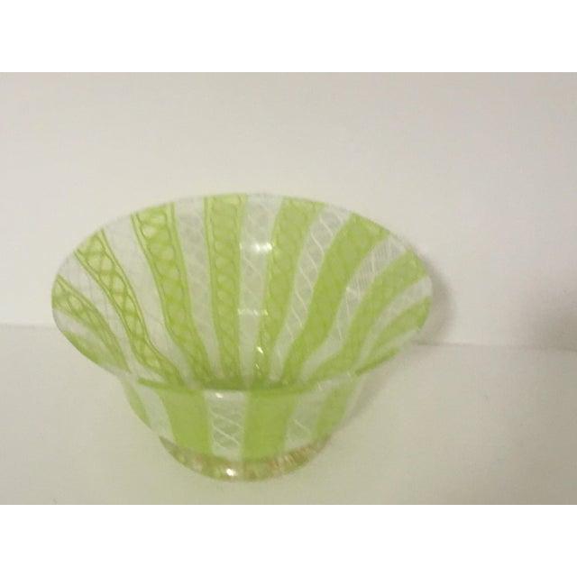 Latticino Italian Glass Bowl - Image 5 of 8