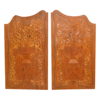 Antique Pair of Inlaid Panels For Sale