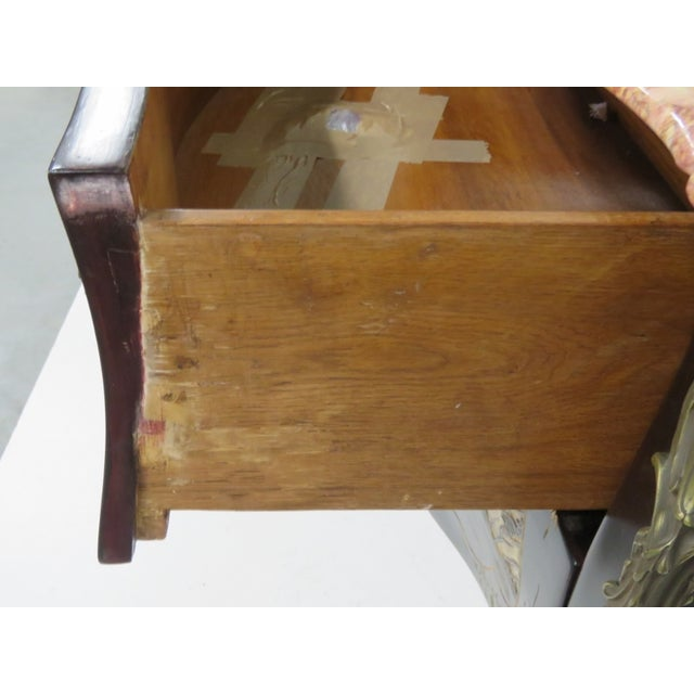 French Chinoiserie Marble Top Commode - Image 3 of 7