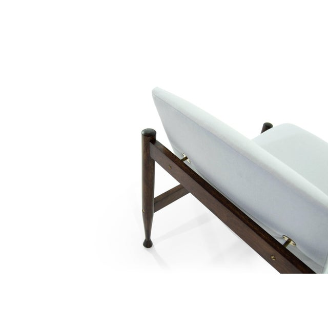 Danish Modern Brass Accented Lounge Chairs - a Pair For Sale - Image 9 of 10
