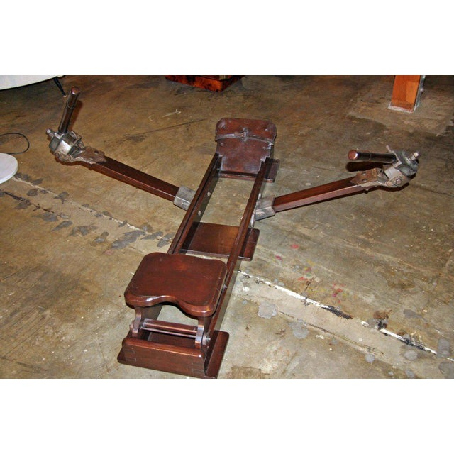 Italian Wood Rowing Machine For Sale In Los Angeles - Image 6 of 7