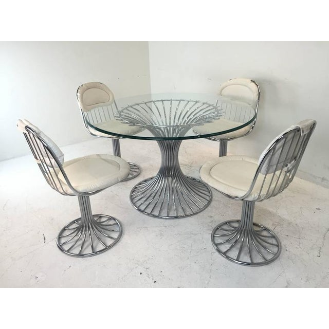 Mid-Century Modern Sculpted Dining Set - Image 8 of 8