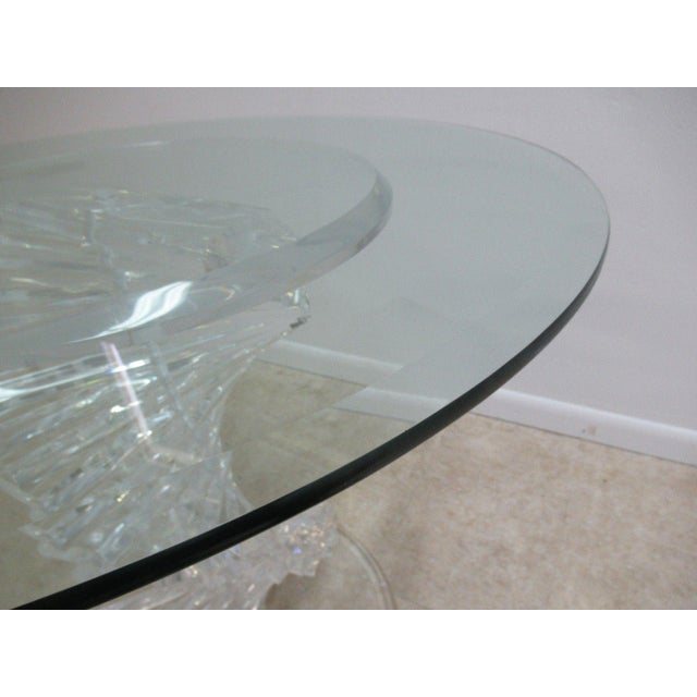 Lucite Vintage Interior Concepts Stack Lucite Dinette Dining Table For Sale - Image 7 of 11