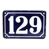 Image of Vintage Large French Metal Street Number #129 For Sale