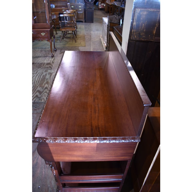Restored Antique Flame Mahogany Dining Server Buffet Sideboard For Sale - Image 6 of 9