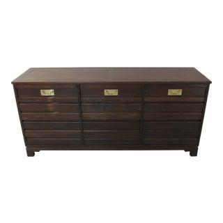 1950s Traditional Baker Milling Road Nine Drawer Dresser For Sale