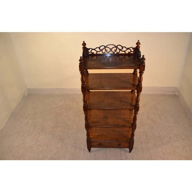 Wood 19th C English Mahogany Etagere For Sale - Image 7 of 8