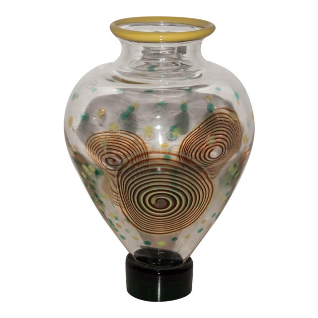Salviati Post-Memphis Multicolored Glass Vase For Sale