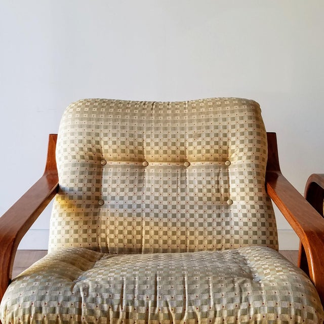 Wood 1970s Westnofa Bentwood Lounge Chairs - a Pair For Sale - Image 7 of 13
