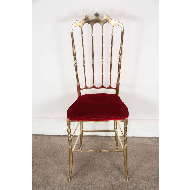 Pair of Brass Chairs by Chiavari Italy For Sale - Image 10 of 11