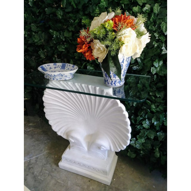 1970s Monumental SeaShell Form Console Table Base Grosfeld House Style For Sale - Image 5 of 6