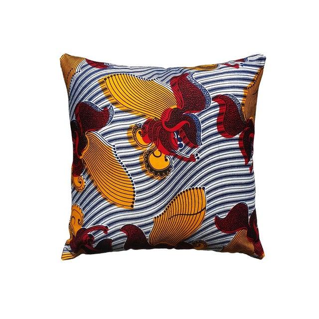 Harp African Print Pillows - a Pair - Image 1 of 3