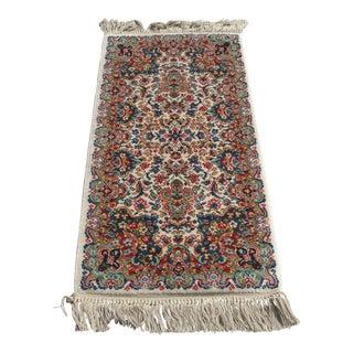 Late 20th Century Vintage Karastan Kirman Wool Area Rug - 2′2″ × 4′9″ For Sale