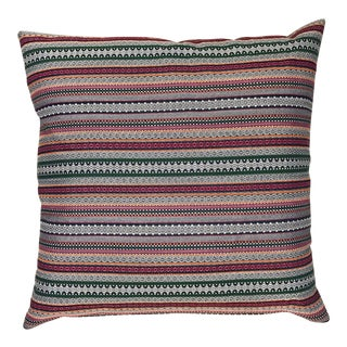 Handmade Vibrant Striped Pillow For Sale