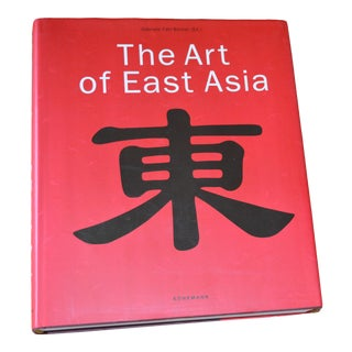 """""""The Art of East Asia"""" Hardcover Dust Jacket Book Koenemann Coffee Table Book Red Black For Sale"""