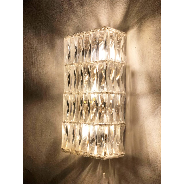 1960s Pair of Austrian Crystal Sconces by Bakalowits and Sohne For Sale - Image 5 of 11