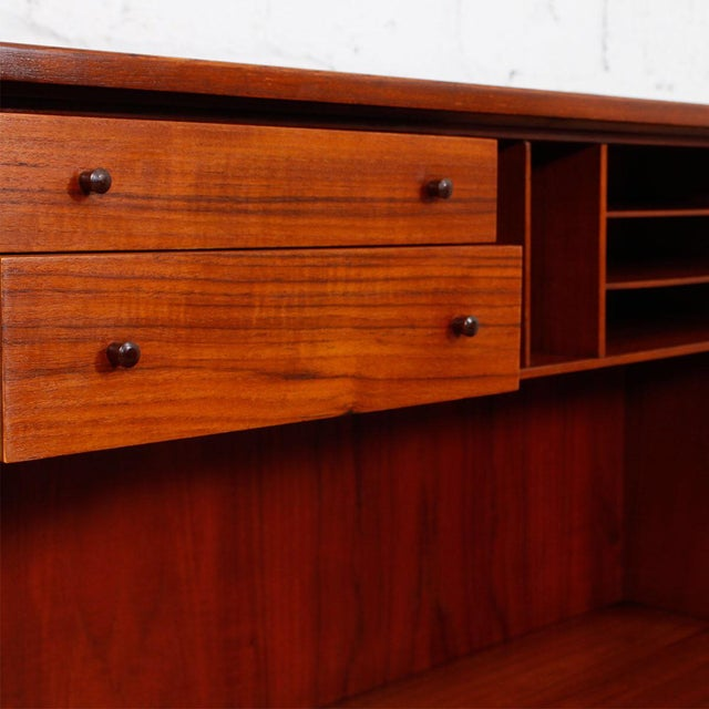 Danish Modern Teak Drop Front Secretary / Desk - Image 5 of 7