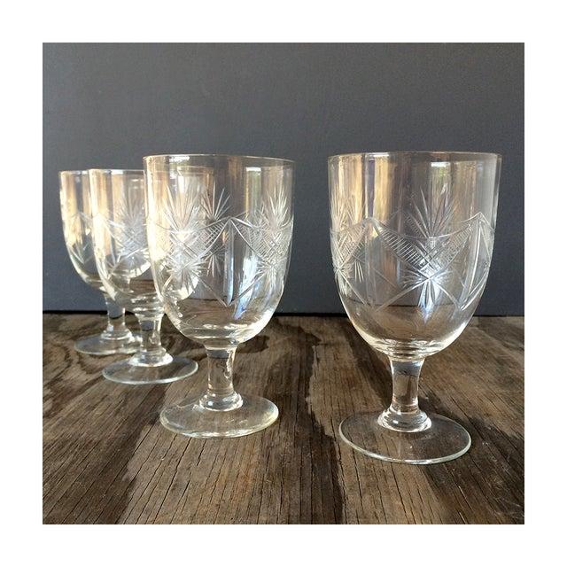 1940s Etched Wine Glasses/Goblets - Set of 8 - Image 2 of 6