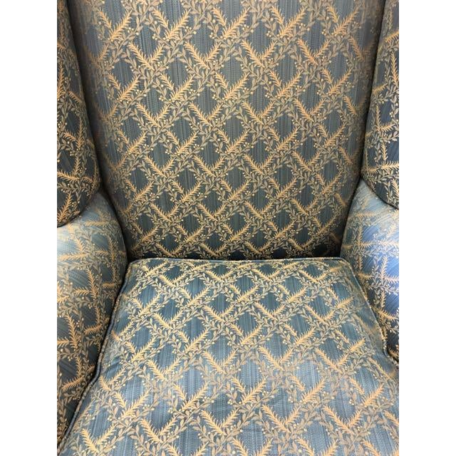 Blue George Smith Wingback Chair For Sale - Image 8 of 8