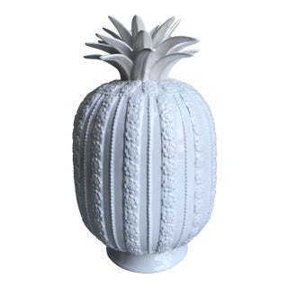 Two's Company White Ceramic Decorative Pineapple