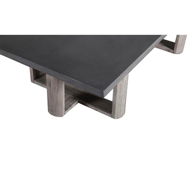Contemporary Lando Cement Coffee Table For Sale - Image 3 of 4