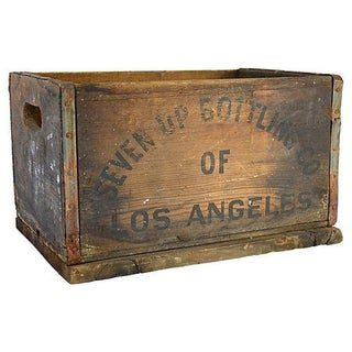 Vintage Rustic Soda Bottle Crate
