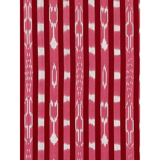 Boho Chic Scalamandre Jakarta Ikat Stripe, Raspberry Fabric For Sale - Image 3 of 3