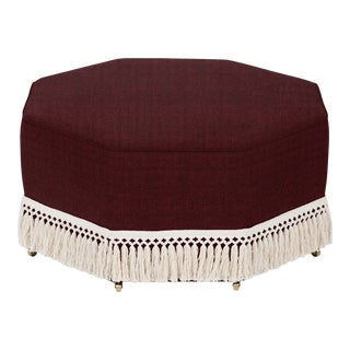 Casa Cosima Istanbul Cocktail Ottoman, Merlot For Sale