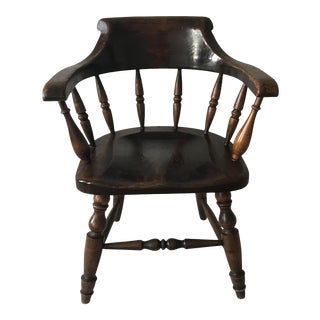 "19th Century Antique ""Captain"" Arm Chair For Sale"