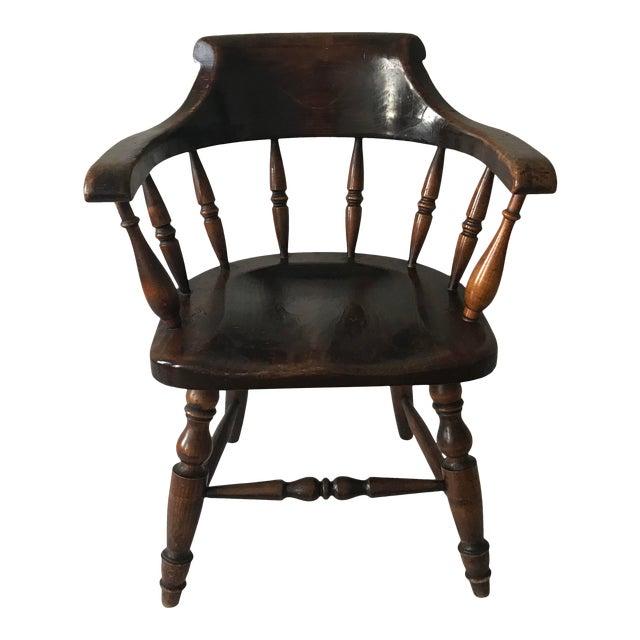 """19th Century Antique """"Captain"""" Arm Chair For Sale"""