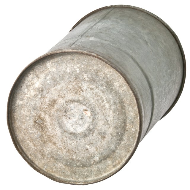 Galvanized Zinc Flower Bucket - Image 2 of 2