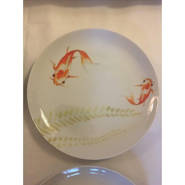 Decorative Koi Fish Plates - Set of 4 - Image 5 of 7