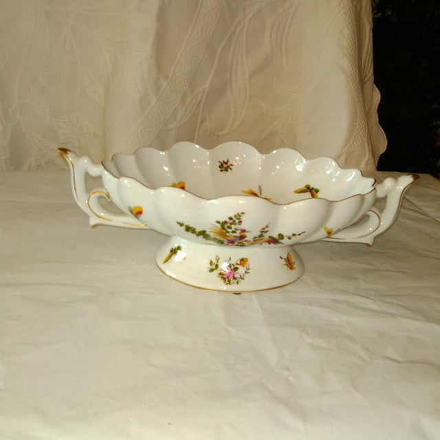 20th Century French White and Gold Centerpiece Bowl For Sale In Kansas City - Image 6 of 6
